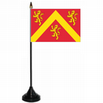 Anglesey Desk / Table Flag with plastic stand and base.
